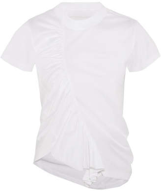 Marques' Almeida - Asymmetric Gathered Cotton-jersey T-shirt - White