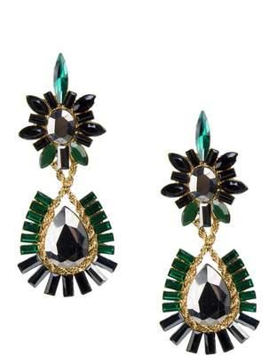 Jardin Twist Chain Stone Drop Earrings
