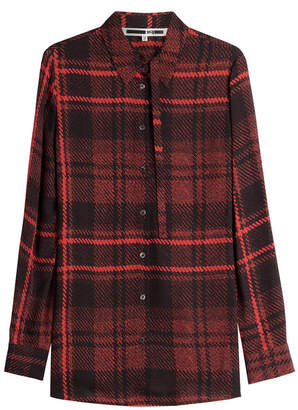McQ Plaid Silk Blouse