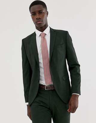 Selected Dark Green Suit Jacket In Slim Fit