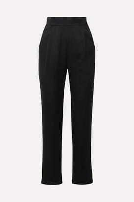 Rasario Satin Straight-leg Pants - Black