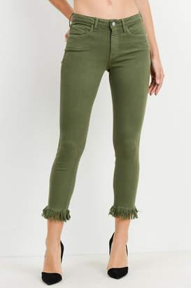 Just Black Crop Fringe Jean