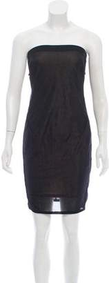 Helmut Lang Strapless Mini Dress