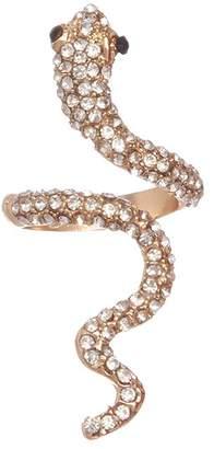 Quiz Olivia's Gold Diamante Snake Ring