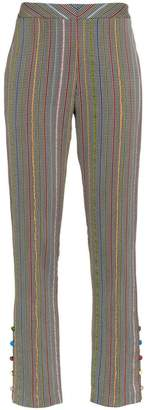 Rosie Assoulin rainbow stripe trousers