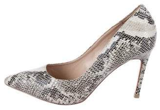 Carvela Embossed Leather Pointed-Toe Pumps