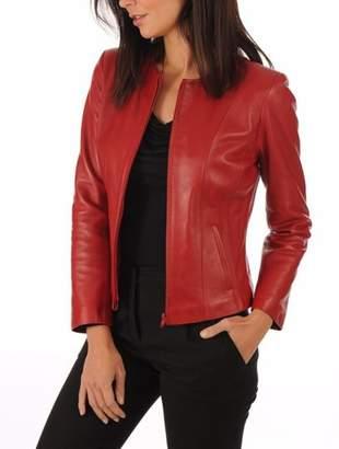 29b8756731ec Excentoutwear Womens Leather Jackets Motorcycle Bomber Biker Real Leather  Jacket Women