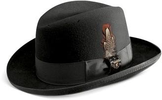 Stacy Adams Men's Wool Felt Homburg Hat