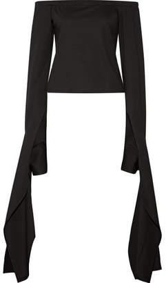 Sid Neigum - Off-the-shoulder Draped Stretch-jersey Top - Black