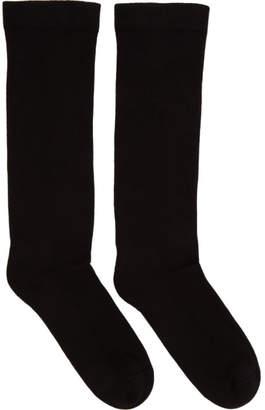 Rick Owens Black Subhuman Socks
