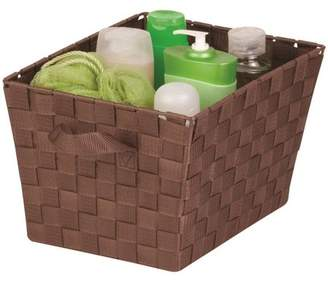 Honey-Can-Do Medium Woven Tote Bin with Straps, Brown
