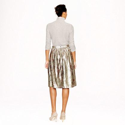 J.Crew Collection gilded paisley skirt