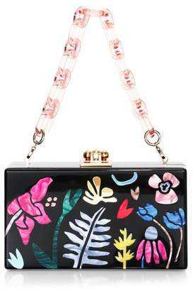 Edie Parker Garden Delight Acrylic Box Bag