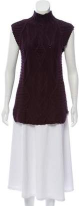 Cotton by Cashmere Cable Knit Sleeveless Sweater