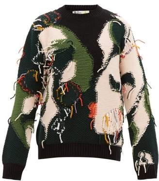 Stella McCartney Patchwork Reverse Knit Wool Sweater - Mens - Multi