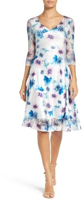 Women's Komarov Floral Print Chiffon Dress $308 thestylecure.com