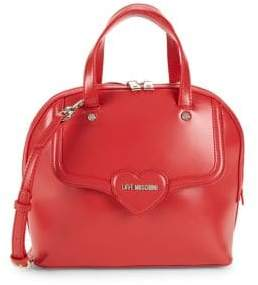 Love Moschino Heart Faux-Leather Dome Satchel