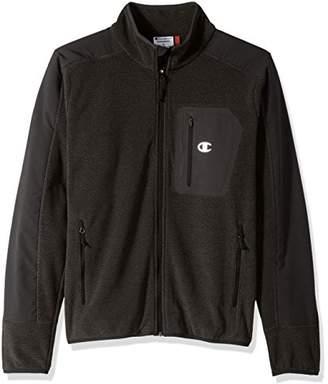 Champion Men's Mock Neck Textured Fleece Jacket
