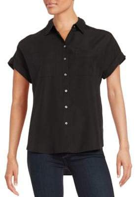 Lord & Taylor Two Pocket Button-Down Blouse $80 thestylecure.com