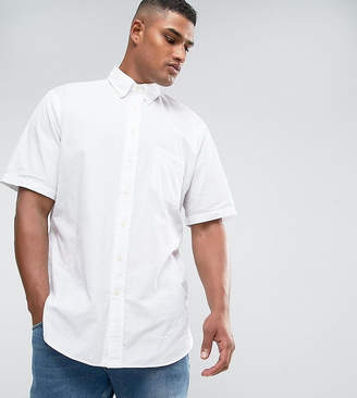 Polo Ralph Lauren Big & Tall Seersucker Shirt Short Sleeve Slim Fit In White