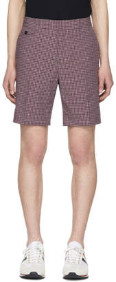 Burberry Purple Gingham Serpentine Shorts
