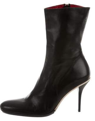 Gianmarco Lorenzi Leather Ankle Boots