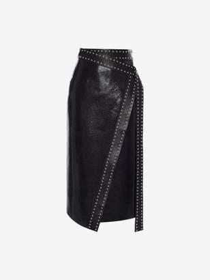Alexander McQueen Leather Wrap Skirt