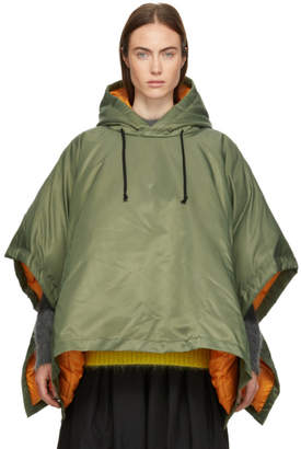 Comme des Garcons Khaki Down Hooded Poncho