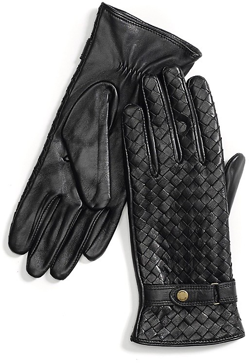 Tommy HilfigerTextured Leather Gloves