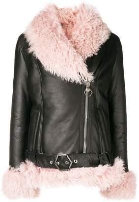 Philipp Plein shearling lined jacket