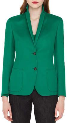Akris Saigon Two-Button Notched-Collar Cashmere-Wool Blazer