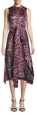 HUGO Kestani Printed Midi Dress