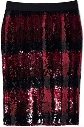 Vince Camuto Sequin Ombre-striped Skirt