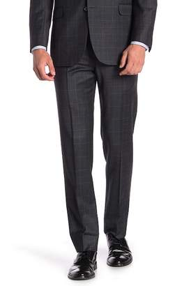 "Brooks Brothers Charcoal Windowpane Explorer Regent Fit Suit Separates Trousers - 30-34"" Inseam"