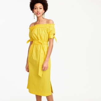 Petite off-the-shoulder tie-waist dress $88 thestylecure.com