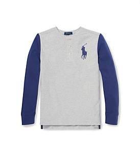Polo Ralph Lauren Cotton Mesh Henley Shirt (S-Xl)