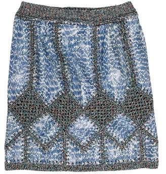 Derek Lam Snakeskin Mini Skirt