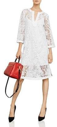 BCBGMAXAZRIA Botanical Lace Shift Dress