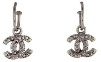 Chanel Studded CC Dangle Earrings