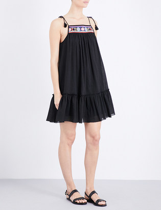 Seafolly Floral-embroidered cotton dress $97 thestylecure.com