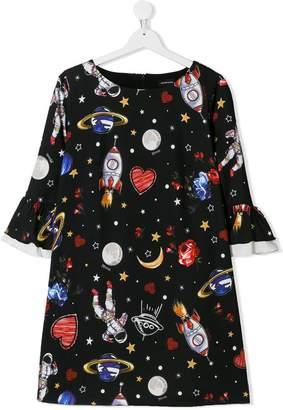 MonnaLisa TEEN galaxy print dress