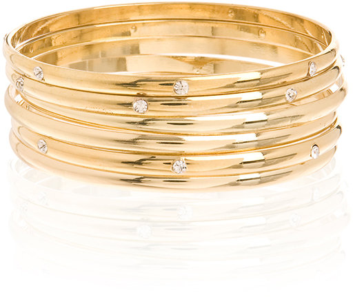 Gold Metal Bangle Set