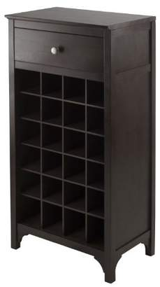 Winsome Ancona Modular 24 Bottle Wine Cabinet with Drawer 19.09W x 12.6D x 37.52H-Inches