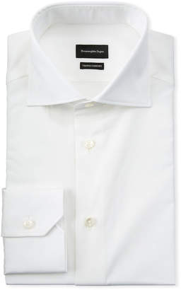 Ermenegildo Zegna Men's Long-Sleeve Solid Dress Shirt