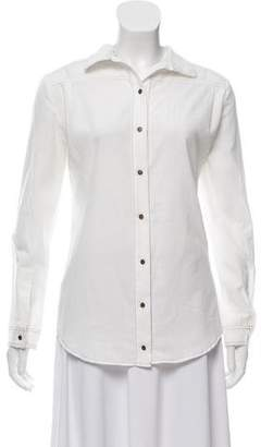 Roseanna Collared Button-Up Top