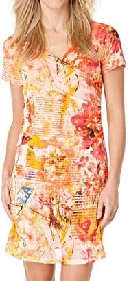Yest Apricot Mesh Dress