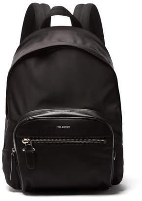 Neil Barrett Classic Leather Trimmed Nylon Backpack - Mens - Black