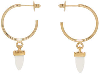 Isabel Marant Gold Horn Hoop Earrings