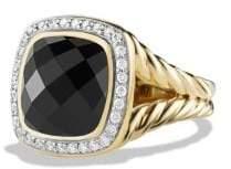 David Yurman Davidyurman Albion Ring With Black Onyx And Diamonds In 18K Gold