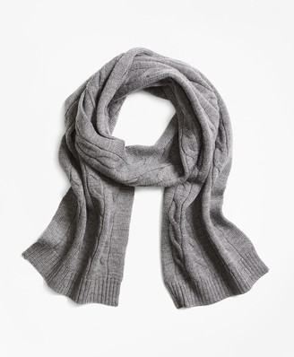 Brooks Brothers Merino Wool Cable Scarf
